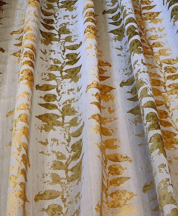 draperie verde cu floricel