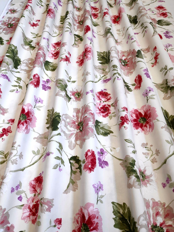 draperie clasica flori bumbac