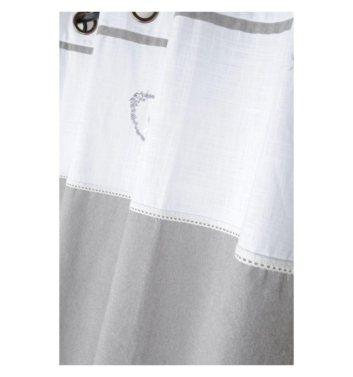 draperie bumbac gri confectionata Pauline Gris