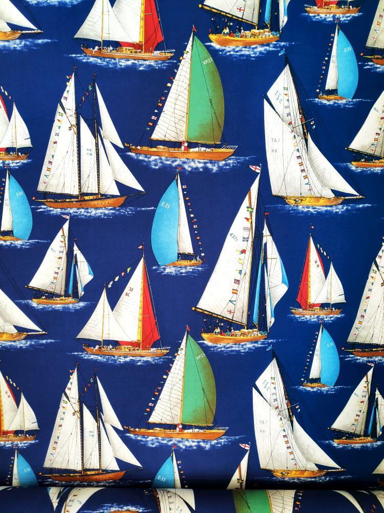 draperie cu iahturi si vapoare