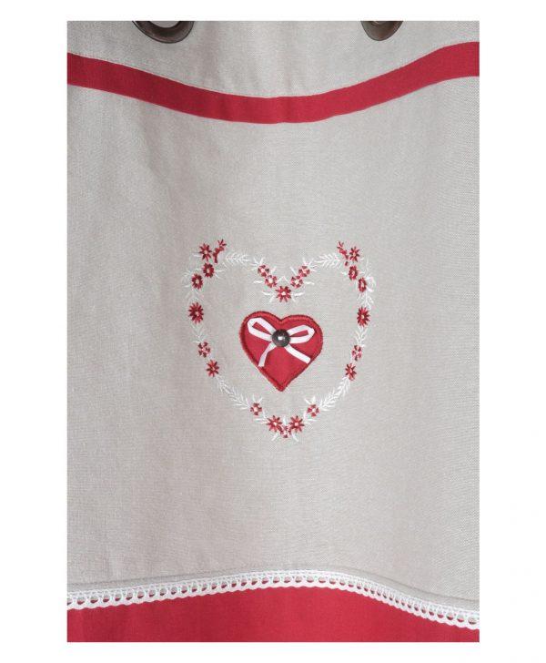 draperie confectionata rosie Pauline Rouge