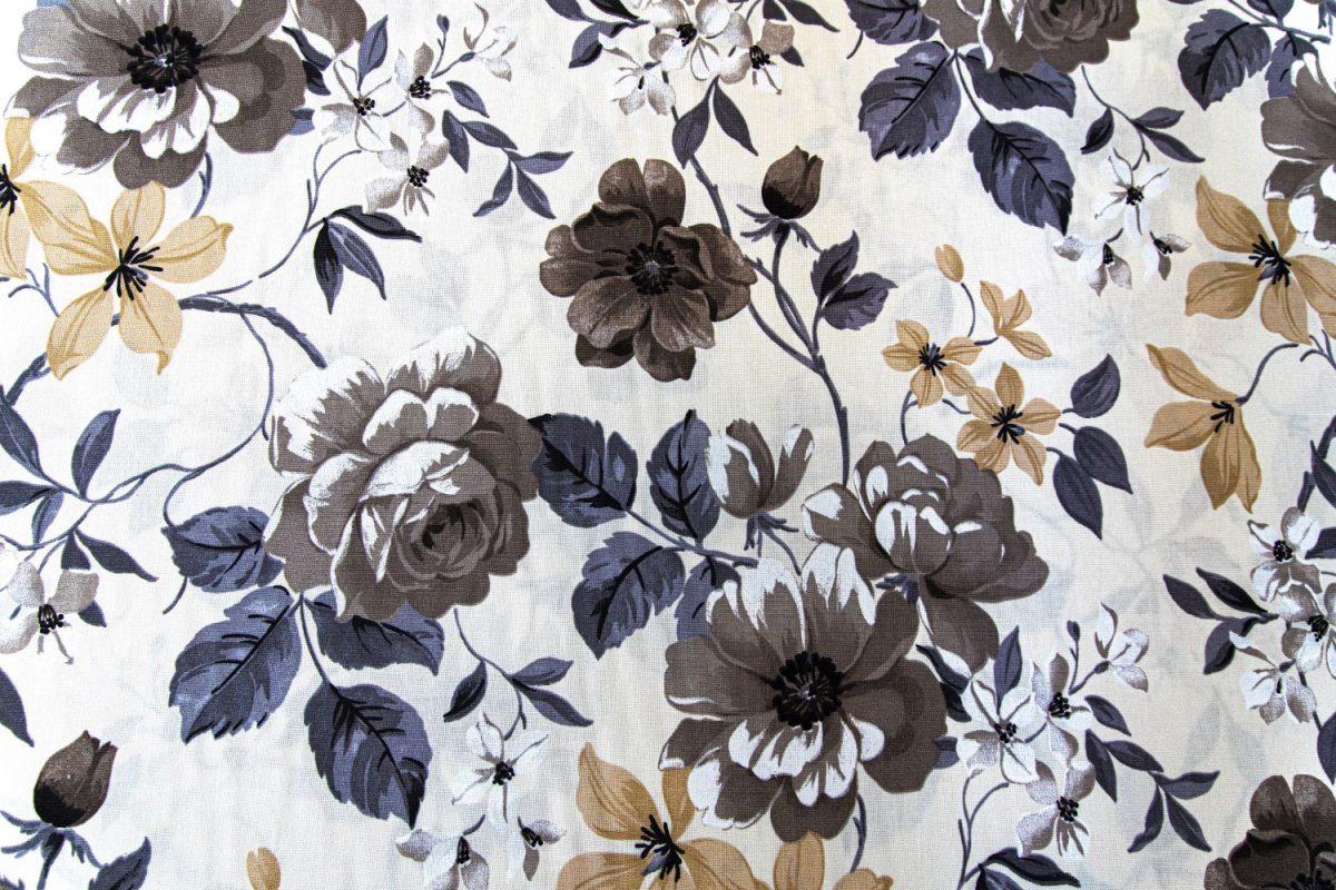 draperie bej flori maro Preston