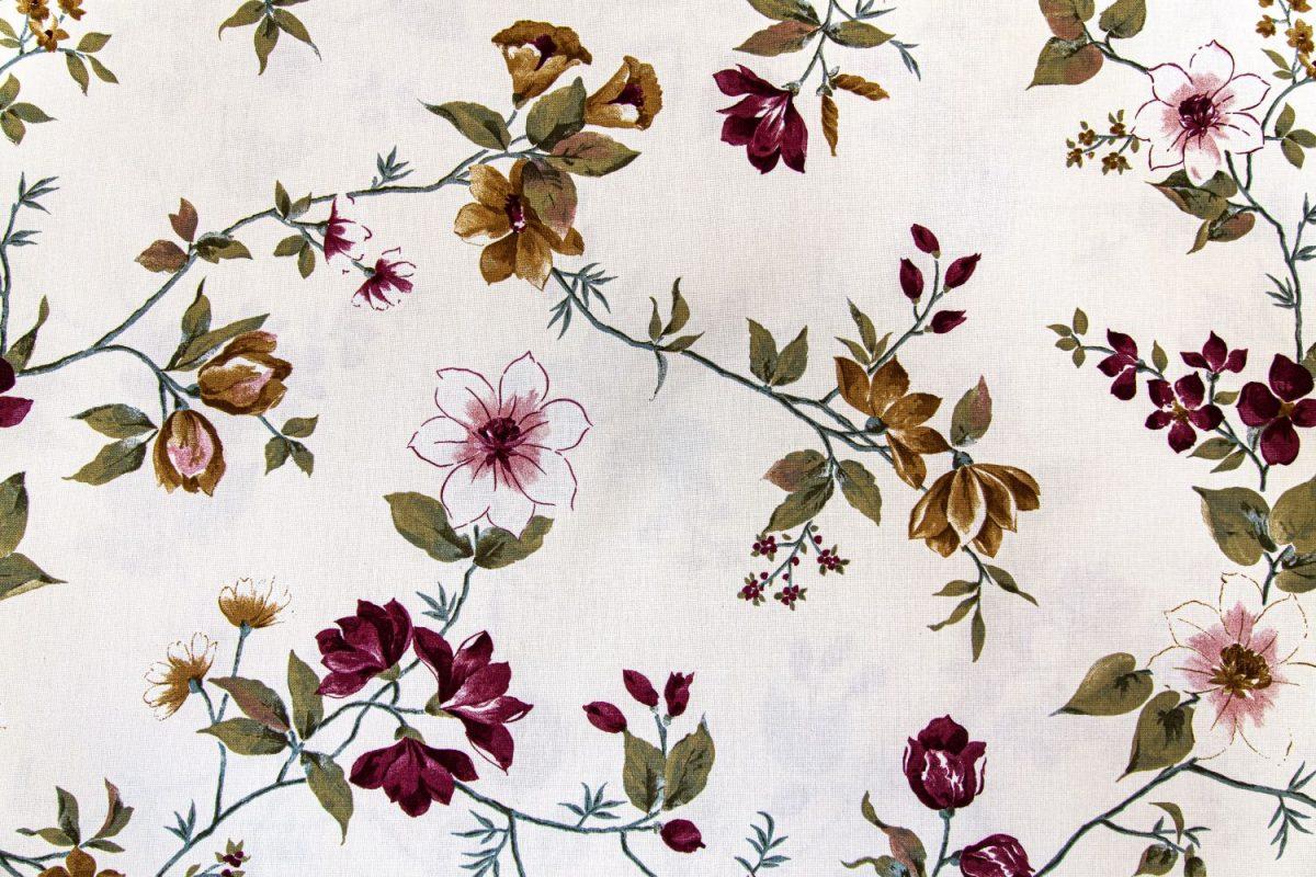draperie bumbac flori colorate Fontaine