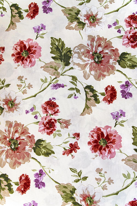 draperie bej flori rosii Goya