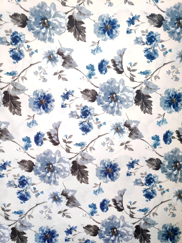 draperie bej flori albastre Goya 02