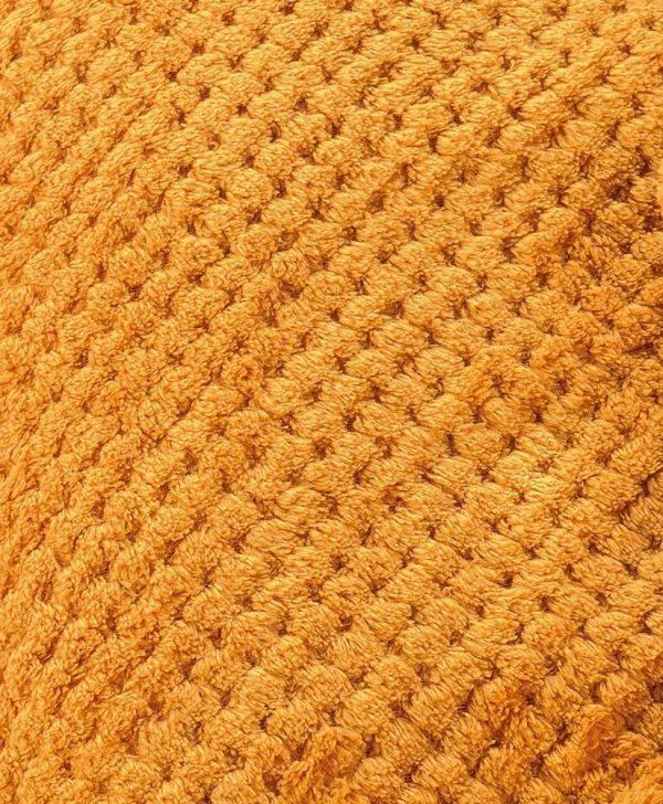patura portocalie închis pufoasa 5111 Praline