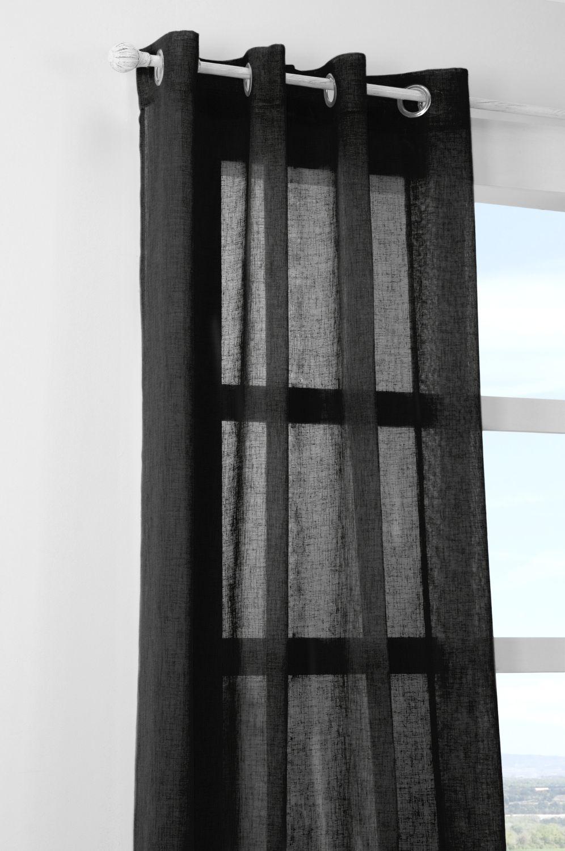 perdea neagra confectionata Paloma Noir