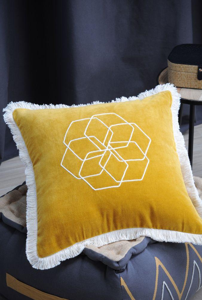 perna galbena catifea geometrica Alabama Safran