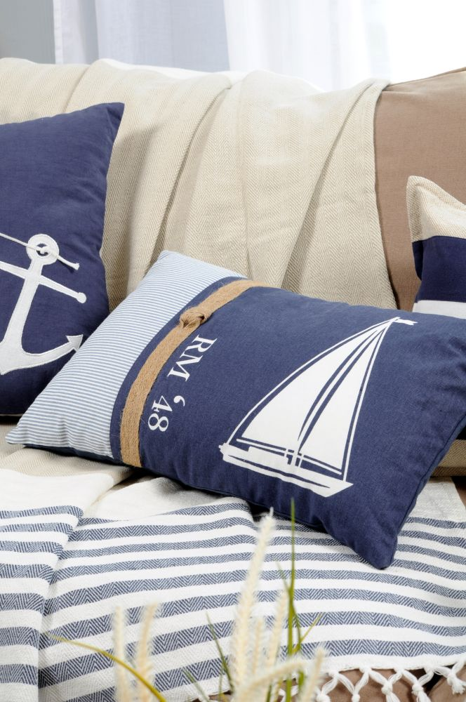 perna deco vapor alba Olonne Ocean 30x50 cm