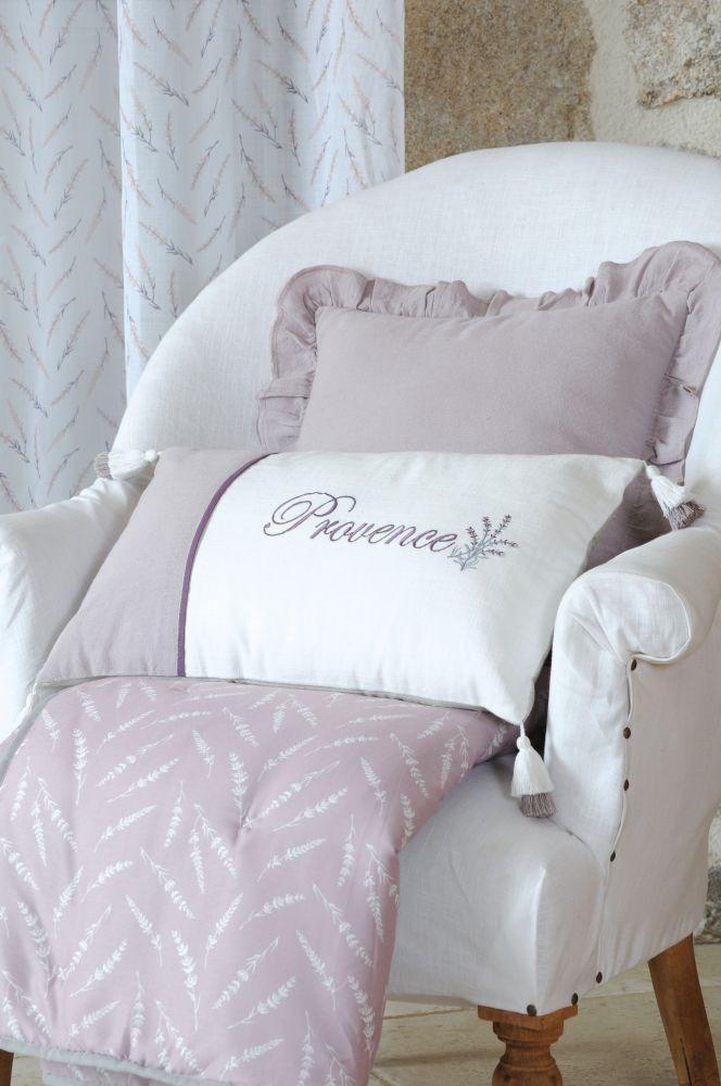 perna decorativa Provence lavanda Cavaillon Blanc
