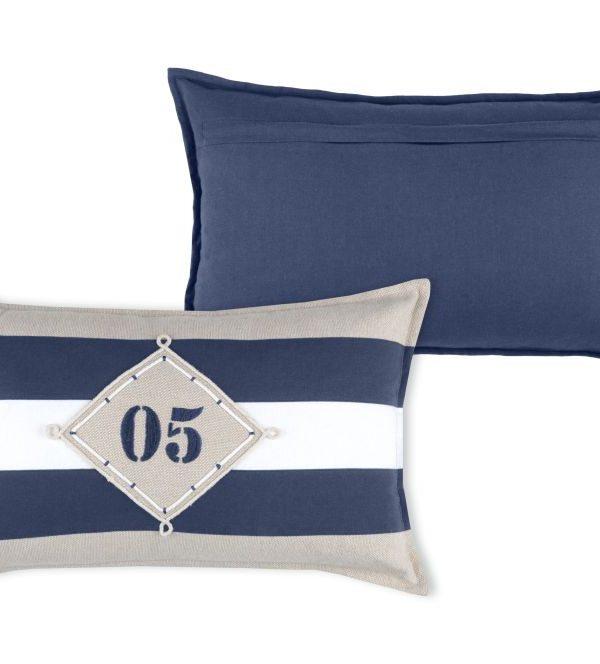 perna dungi decorativa albastra Olonne Marine 30x50 cm