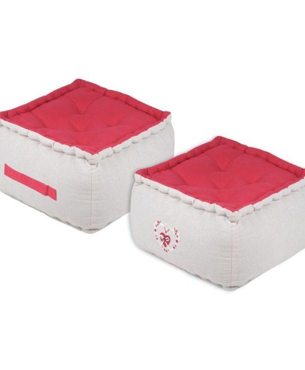 perne rosii podea cu maner Pauline Rouge