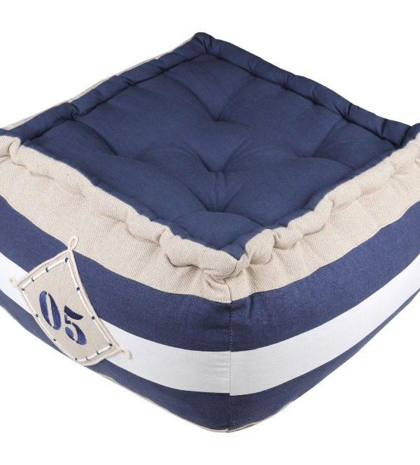 perna albastra podea cu maner Olonne Marine 40x40x30 cm