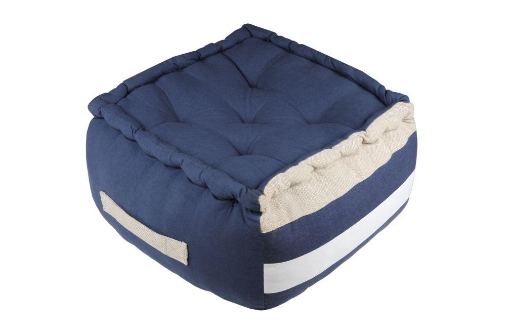 puf podea decorativa albastra Olonne Marine 40x40x30 cm