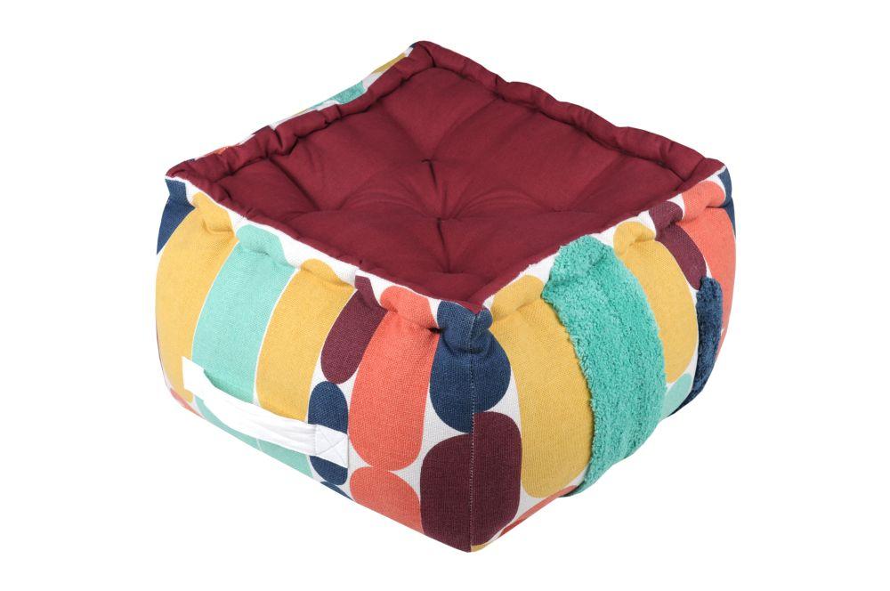 perna geometrica podea Stripes Multicolor 40x40x30 cm
