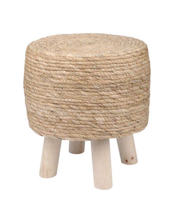 taburet lemn rustic Cypres